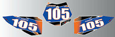 Custom Number Plate graphics for KTM 50   2009 -2015