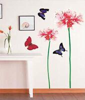Wandaufkleber Wandtattoo Wandsticker wallsticker  Blumen & Schmetterling WAG-031