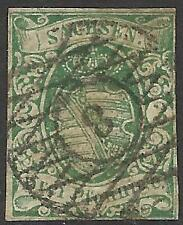 GERMAN STATES-SAXONY. 1851. 3 pf Green. Fine Used.