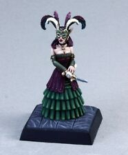 Master Spy Reaper Miniatures Pathfinder Dark Elf Rogue Caster Bard Female Melee