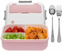 Bento Box for Adults - 1300ML Bento Lunch Boxes For Adults Kids, Leak-proof Pink