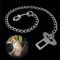 Dog Car Safety Seat Belt Harness Restraint Leash Travel Clip Chain Vehicle Strap