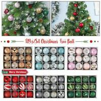 12Pcs Plastic Colored Balls Christmas Tree Hanging Ball Ornament Party Decor