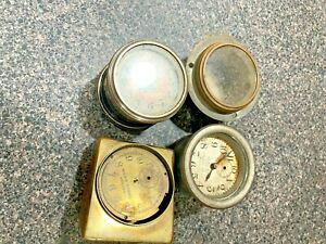 3 Car Clocks 1 Case for parts or restore     Keyless,  Assorted Must see