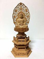 Japanese Japan, Buddhist statue  wooden Gold Leaf hand-carved 31cm