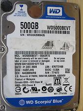 WD 500 GB WD5000BEVT-00A0RT0 DCM: HANTJHN | 31DEC2009 2060-771672-001 RevP1