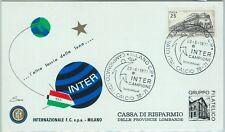 67881 - ITALIA REPUBBLICA -  ANNULLO SPECIALE su cartoncino:  INTER  calcio 1971