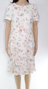Lauren By Ralph Lauren Womens A-Line Dress White Ivory Size 10 Floral $165 008