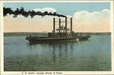 Steamer - SS Canso Crossing Straits of Canso c1920 Postcard