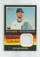 KRIS BRYANT (Cubs) 2020 TOPPS HERITAGE HIGH SERIES CLUBHOUSE COLLECTION RELIC