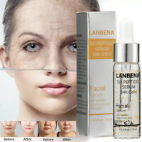 LANBENA Six Peptides Serum 24K Gold Anti-Aging Vitamin E Serum Anti-Wrinkle