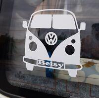 Personalised VW Camper Van Vinyl sticker Dad, Mum, Campervan Nicknames Gift