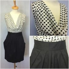 Cowl Neck Geometric Casual Sleeveless Dresses for Women