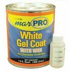 Marpro 6-7621 Gel Coat White With Wax Quart Boat Fiberglass Repair Marine