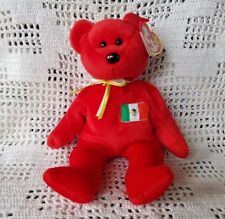 Beanie Babies Ty Original Retired Osito Red Mexico Bear Plush Animal MWMT 3+