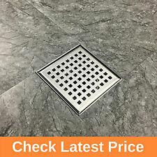 Stainless Steel Shower floor wetroom drain, 15cm Square, Gratings, Horizontal