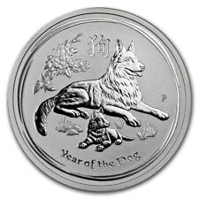 Perth Mint Australia 2018 Lunar Dog 1/2 oz .9999 Silver Coin