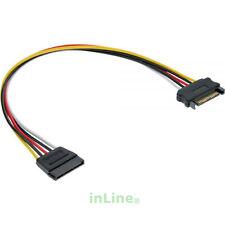 InLine® Strom Verlängerung intern, SATA Stecker / Buchse, 0,5m 5adrig PC Gehäuse