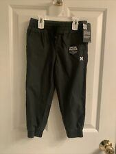 NWT-Boys Hurley Black Casual Pants-Size 4