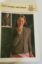 Knitting Pattern Emu Shetland & Boucle Child's Sweater & Tabard 66 - 76cm