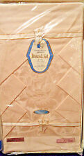 Fl Damask Set Tablecloth 56 x 76 Napkins 6 orig pkg Unused Japan Champagne Peach