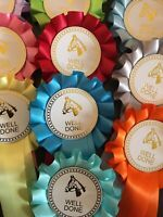 10 X 1 Tier Horse Head Well Done Rosettes in top quality single faced satin