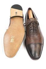$695 Ermenegildo Zegna Mens Restored / Resoled Leather Cap Toe Shoes US Size 8M