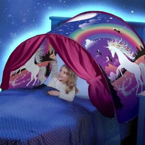 KIDS DREAM BED TENTS Children Fantasy Night Sleeping Fordable Up Pop Twin Seen