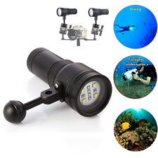 2400LM MK-13 100m Diving Underwater Video LED Flashlight Torch Light for Camera