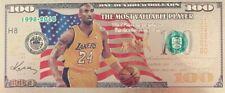 Kobe Bryant 100 dollar 24K gold-plated banknote