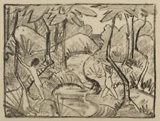 Otto Mueller  Zwei Figuren am Waldbach von 1921/22