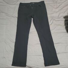 Rue 21 Black Mens Skinny Straight Slim Size 32x30 Denim Cotton Jeans Emo Goth