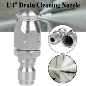 1/4inch Male Pressure Washer Drain Sewer Cleaning Pipe Jetter Rotating Nozzle