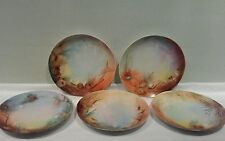 Set of Five RC Rosenthal Handpainted Signed Pine Cone Plates ca.1890