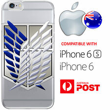 iPhone 6 6S Silicone Case Cover Attack On Titan Survey Corps Wings Of Freedom Co