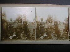 RARES STEREOFOTO  ZIGEUNER SINTI ROMA  um 1900 LEICHT COLORIERT /  GYPSY FAMILY