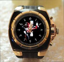 JOKER & HARLEY QUINN 100% UNIQUE Commando Army Style Chunky Sport Wrist Watch