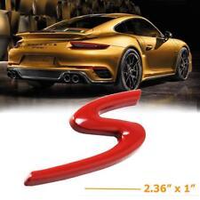1x Porsche Cayenne Macan 911 Carrera S in Red Logo Direct OEM Emblem Badge 11-18