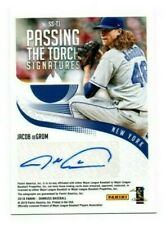JACOB deGROM 2018 DONRUSS PASSING THE TORCH RED AUTO 7/25 AUTOGRAPH TOM GLAVINE