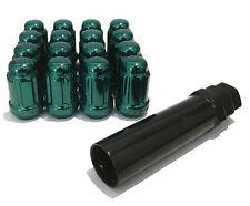 Aleación Tuercas de Rueda Sintonizador Verde (16) Pernos 12x1.25 Para Nissan Frontier [Mk2] 04-15