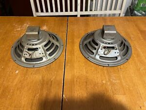 "Vintage JENSEN 10"" speakers matched pair Tube Amp Amplifier alnico 4 ohms"