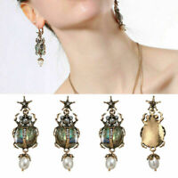 Fashion Women Alloy Rhinestone Pearl Drop/Dangle Star Insect Earrings Jewelry