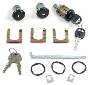 86-92 Camaro Door & Hatch Lock Cylinder Set w/ Power Pull Down Rear Hatch NEW