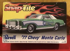 Revell 77 1977 Chevy Monte Carlo Lowrider Snap/Easy Kit Sealed AMT MPC JOHAN