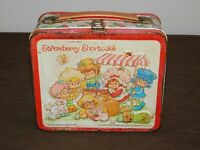 VINTAGE 1981 ALADDIN STRAWBERRY SHORTCAKE SCHOOL METAL LUNCHBOX