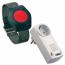 ELDAT Pflegeruf-Set mit Armbandsender, Funk-Notrufsystem, Senioren-Hausnotruf