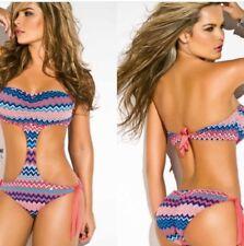 Monokini Bathing Suit Bikini Phax SMALL.. Latin cut strapless women's teen swim