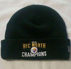 New Era Pittsburgh Steelers AFC North Champions 2016 Beanie Hat, Brand New