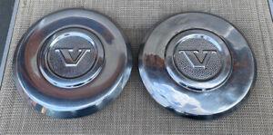 VOLVO 1974-84 240 & 260 SERIES SEDAN GENUINE RIM STAINLESS CENTER CAPS!!