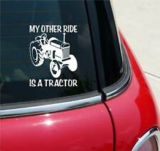 My Other Ride Is A Tractor Graphic Decal Sticker Art Car Wall Decor